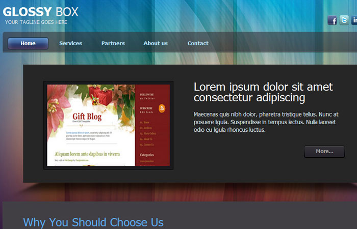 20 Free Responsive High Quality HTML/CSS Website Template 14