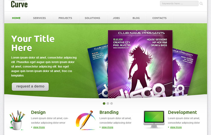20 Free Responsive High Quality HTML/CSS Website Template 15