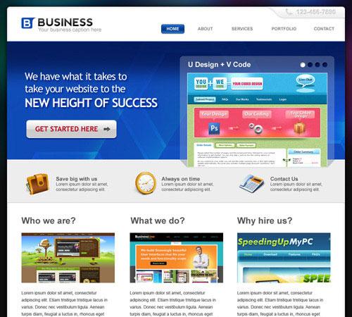 20 Beautifully Designed Free PSD Website Template 1