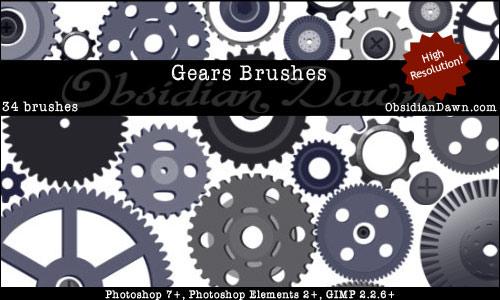 Gears Vectors Brushes