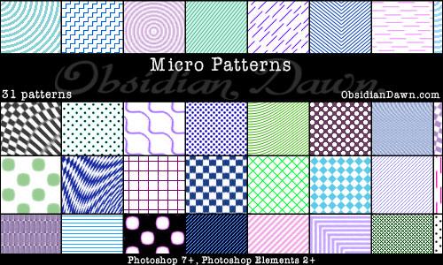 Micro Patterns PS Patterns