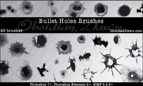 Bullet Holes Brushes