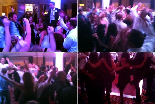 Good times on the dancefloor at Veronica & Tom's wedding
