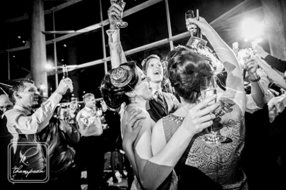 raucous late-night singalong at Shannon & Chase's wedding