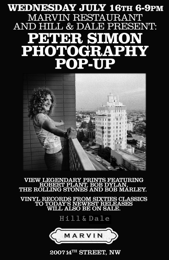 Peter Simon Photography Pop-Up at Marvin