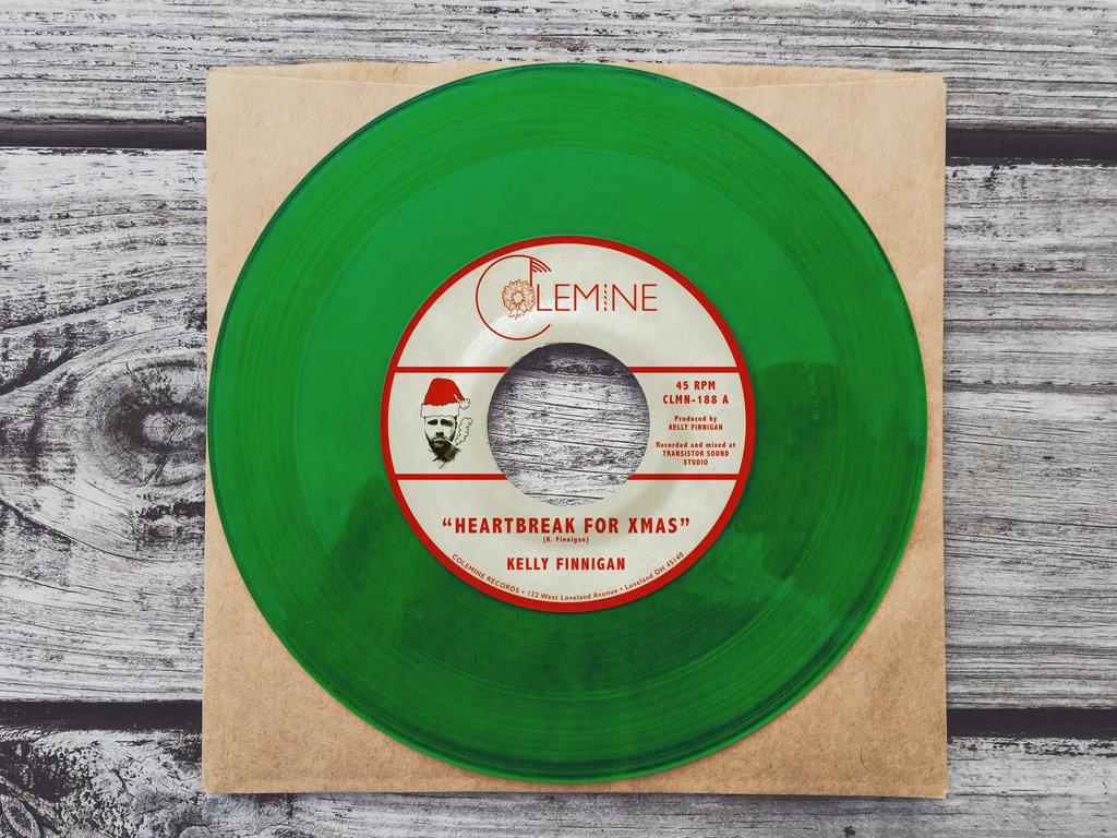 Kelly Finnigan Heartbreak for Christmas green wax 45