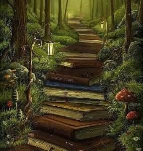 stairway of books