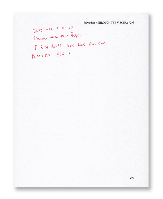 editing humor - viscera manuscript