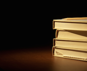 book stack photo