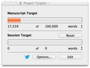 scrivener word count tracker