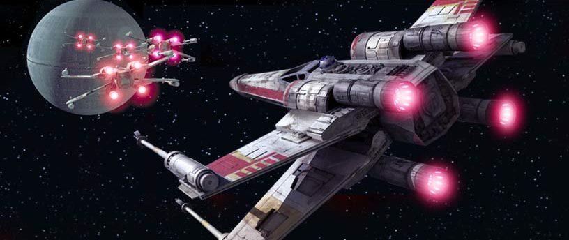 star wars x-wing attack on deathstar