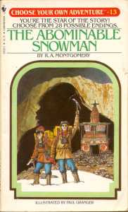 abominable snowman choose your own adventure