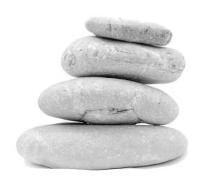 stone pile white