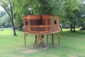 backyard treehouse side