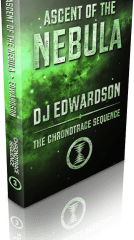 Chronotrace Sequence book 3, Ascent of the Nebula - science fiction book cover