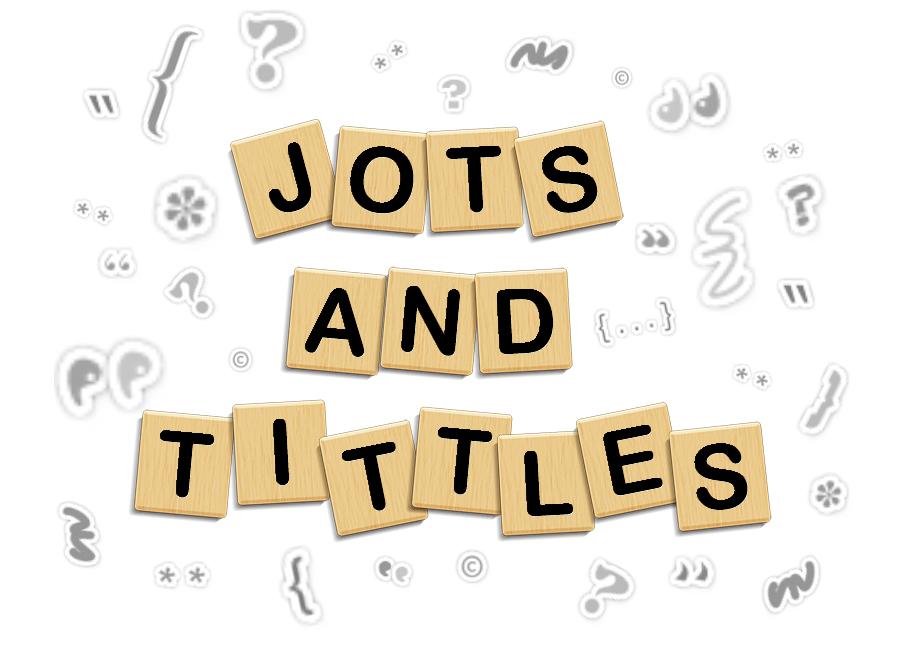 jots and tittles