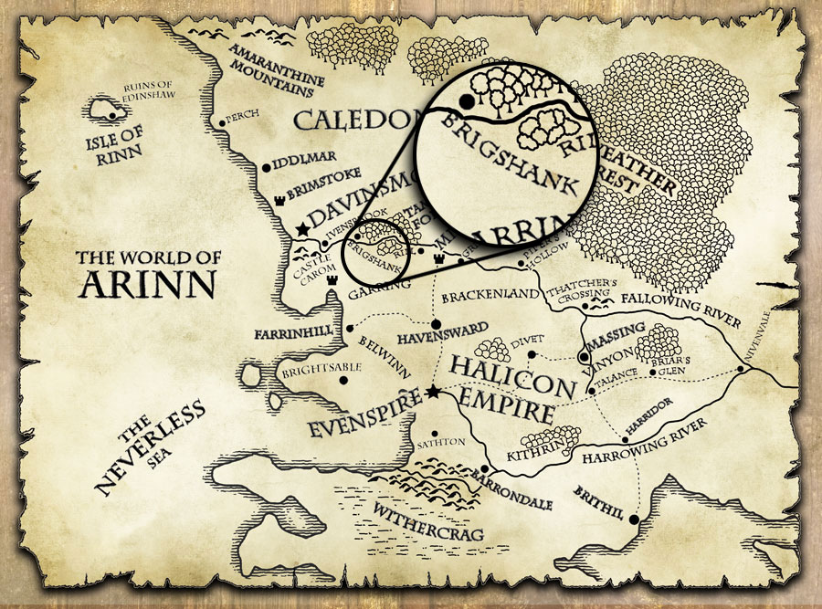 last motley map world of arinn brigshank