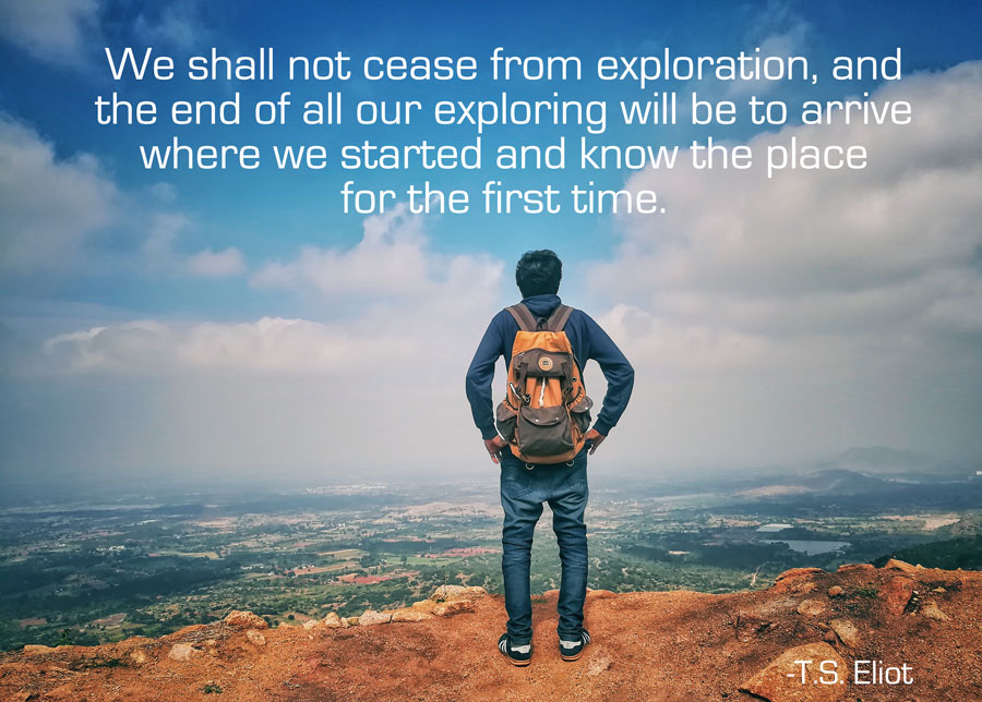Exploration Ts Eliot Quotes Quotesgram: Quote: We Shall Not Cease From Exploration