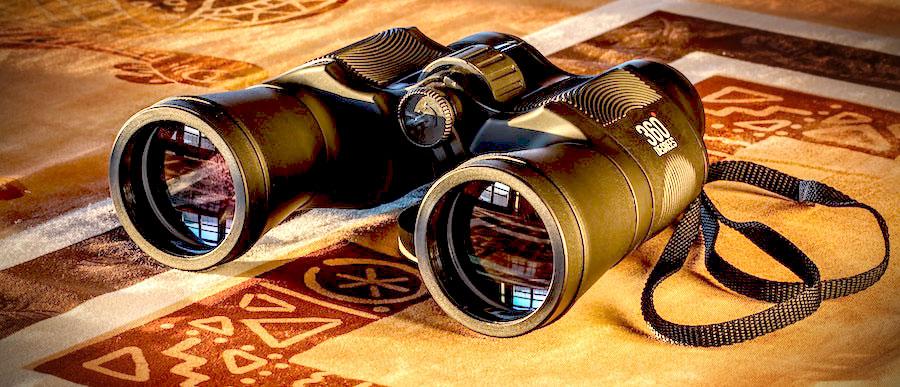 binoculars exploration