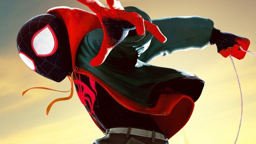into the spiderverse miles morales in black suit