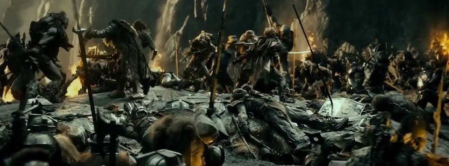 battle scene middle earth