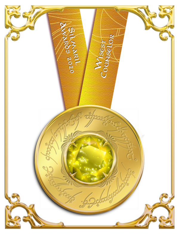 Wisest Counselor Silmaril Awards 2020 medallion