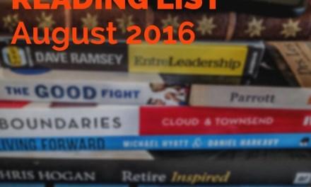Reading List – August 2016