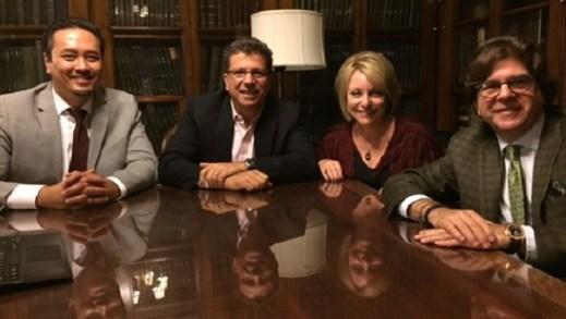 Trustees of Daniel Jordan Fiddle Foundation From left: Dr. Roger Jou, Howard Fiddle (Secretary), Linda Walder (Founder and President), and Frederick Fiddle (Founder and Treasurer)