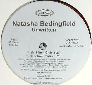Natasha Bedingfield - Unwritten (HaNi NUM ReMix) ReMaster