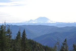 This is Mount Rainier from the top of Mt. Si