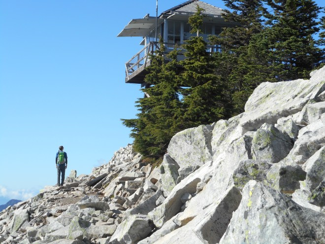 Derek on summit, right below lookout