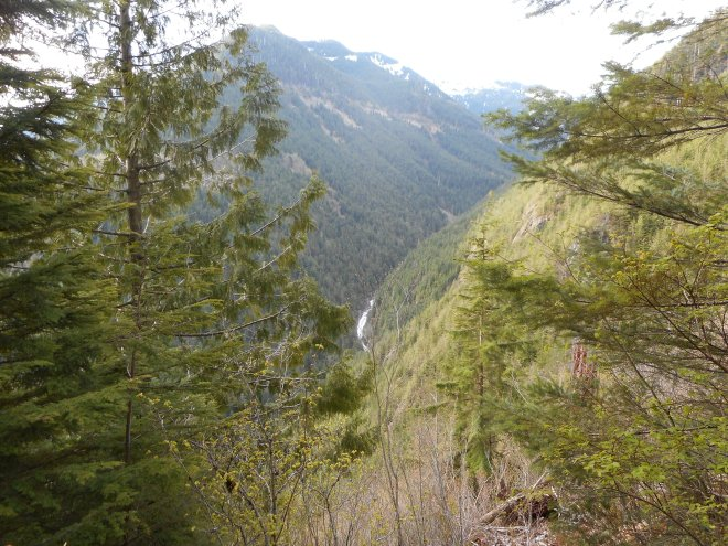 Waterfall in the distance
