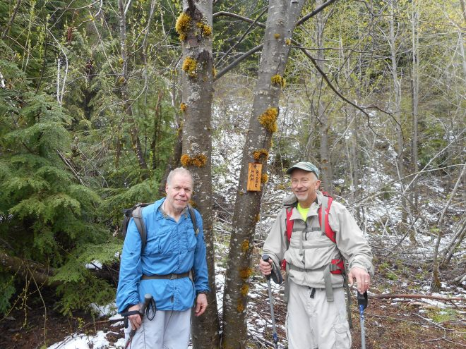 Ken and Carl at J's Landing side trail