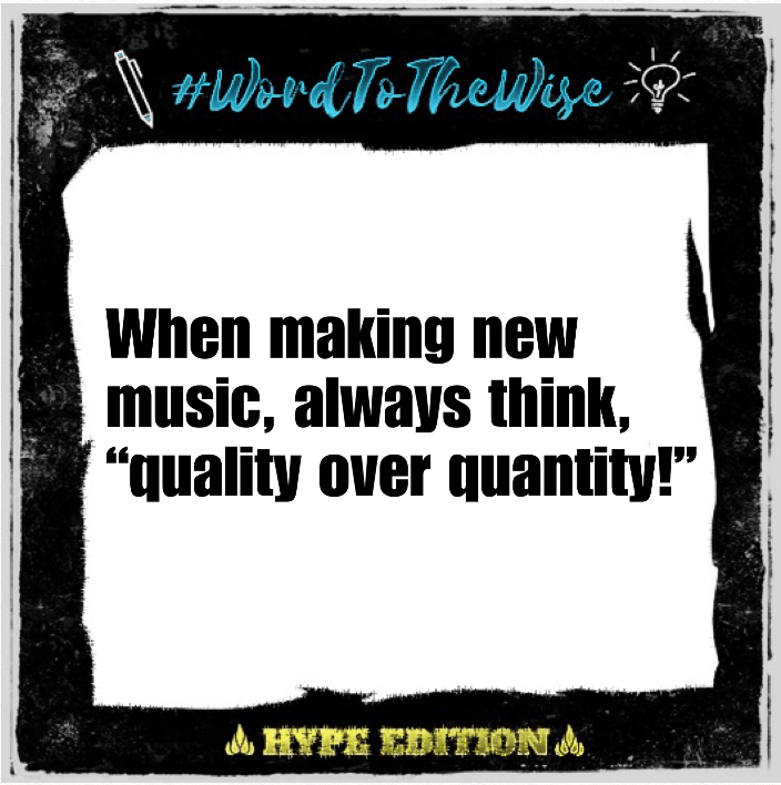 """#WordToTheWise: """"Quality Over Quantity"""""""