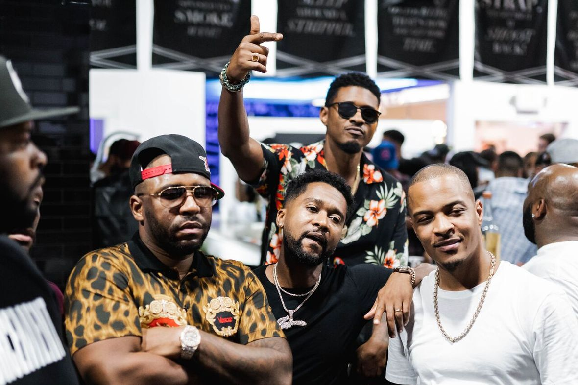 T.I., Usher, Killer Mike, Monica and More Attend the VIP Preview of Atlanta's Trap Music Museum