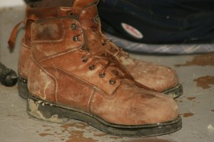 Working man's shoes