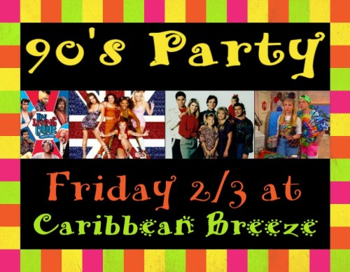 90s party in Ballston at Caribbean Breeze