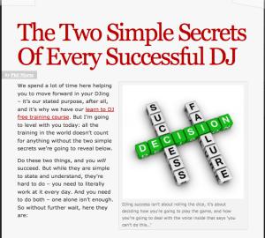2 simple secrets of successful dj