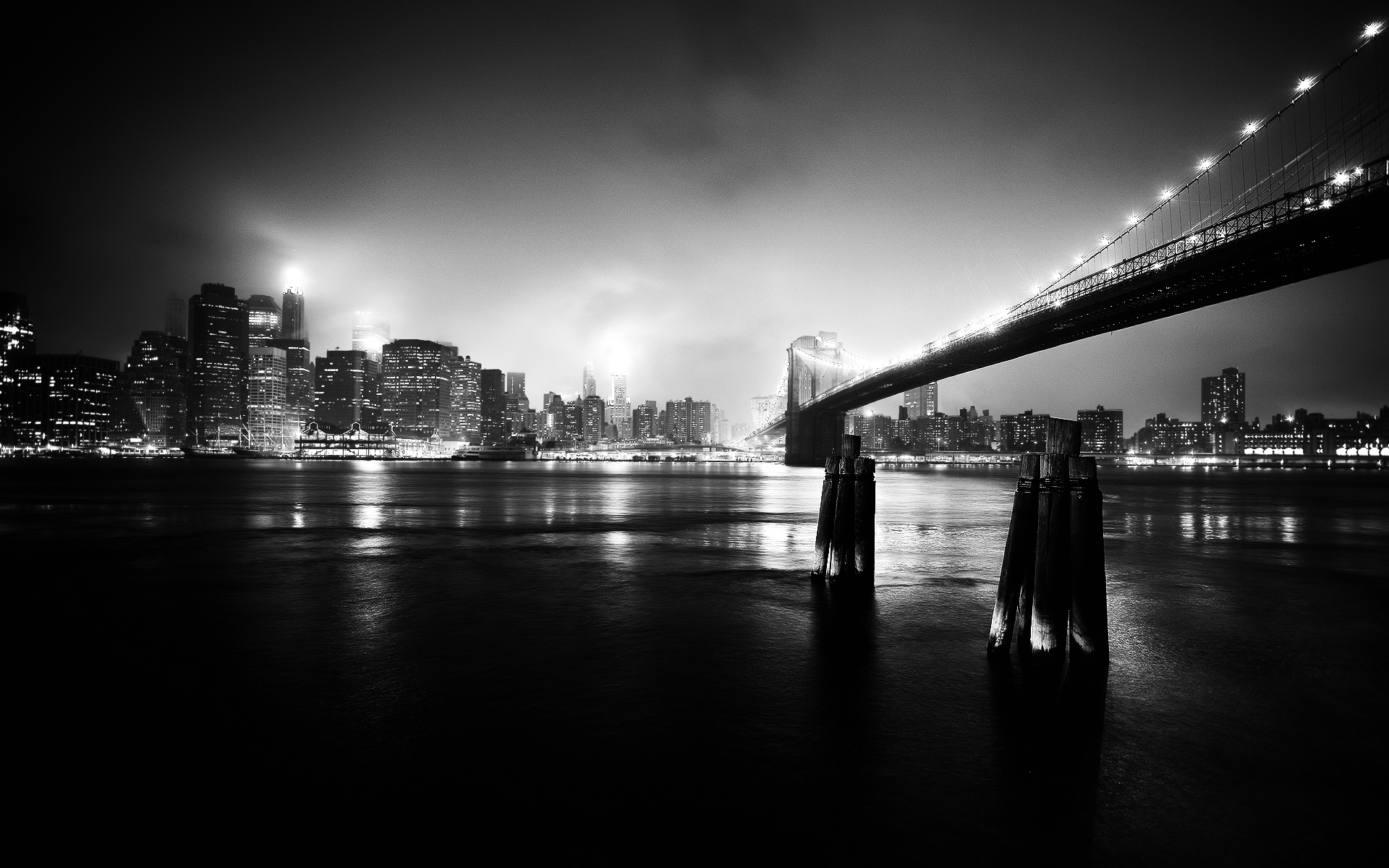 Urban Photography New York At Night And The Brooklyn Bridge In
