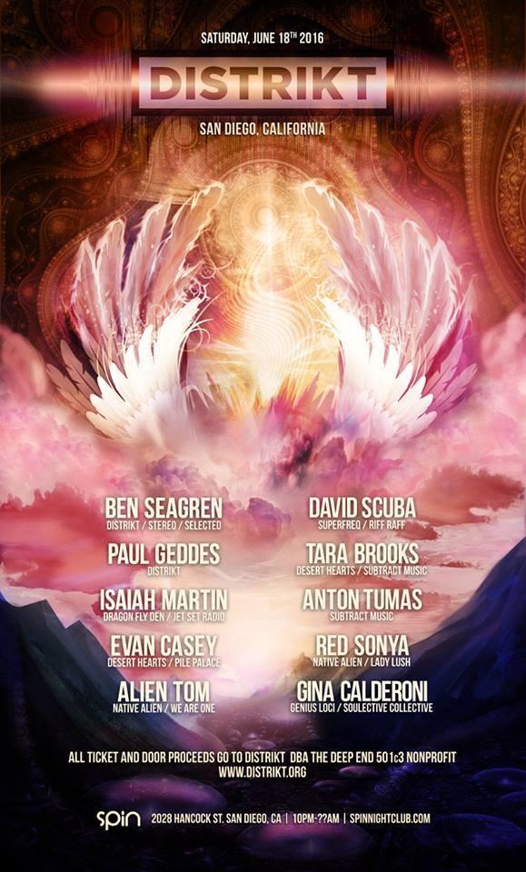 Saturday, June 18th, Don't miss DISTRIKT's Burning 2016 Man Camp Fundraiser at Spin Nightclub in San Diego featuring Tara Brooks, Ben Seagren & more!