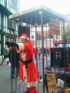 Feral Santa in Carnaby Street