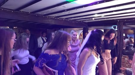 bride wedding dj