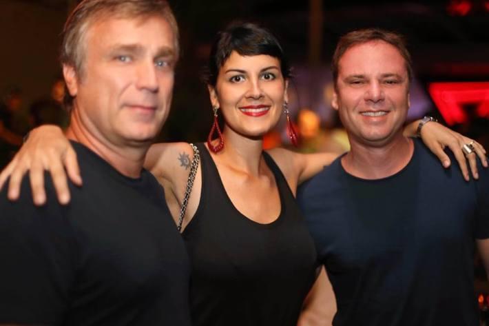 Luiz Eurico Klotz, Monique Dardenne e Gustavo Conti Warung