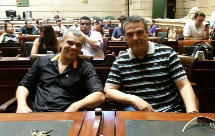 Andreller e Jorge Kiiver na Camara de Vereadores RJ