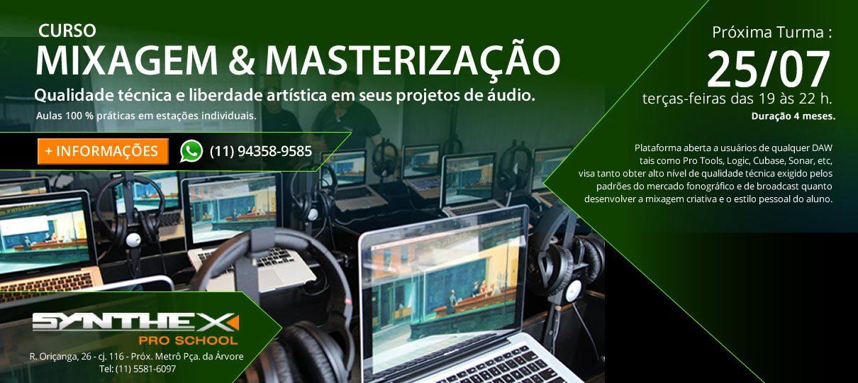 Synthex – PRO SCHOOL – Curso de Mixagem e Masterização