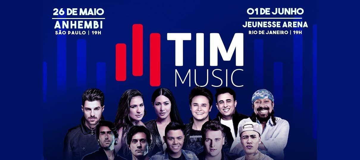FESTIVAL TIM MUSIC reúne estrelas da música em SP CANCELADO e no RJ Confirmado!