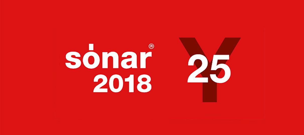 25º aniversário de Sónar 2018 Barcelona, a Celebreção