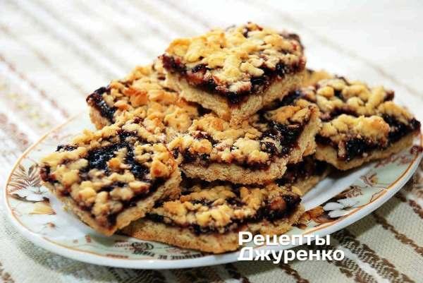 Тертый пирог - печенье со смородиновым вареньем - Рецепты ...