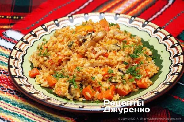 Плов с морепродуктами и овощами по-мексикански - Рецепты ...
