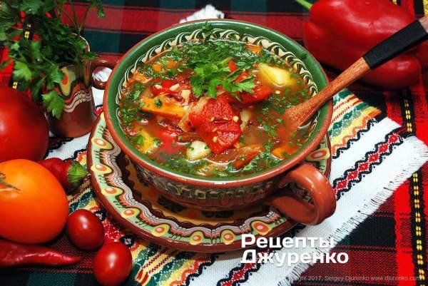 Суп с болгарским перцем — вкусный густой овощной суп ...